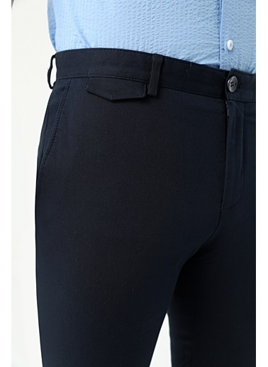 TWN Slim Fit Armürlü Chino Pantolon Lacivert